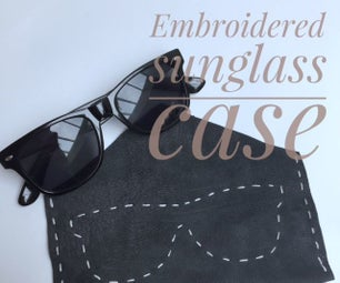 Embroidered Sunglass Case