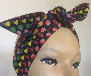 Sew a Vintage Style Head Wrap Scarf