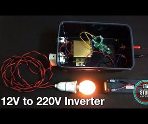 12V to 220V Inverter Using IR2153 With Casing