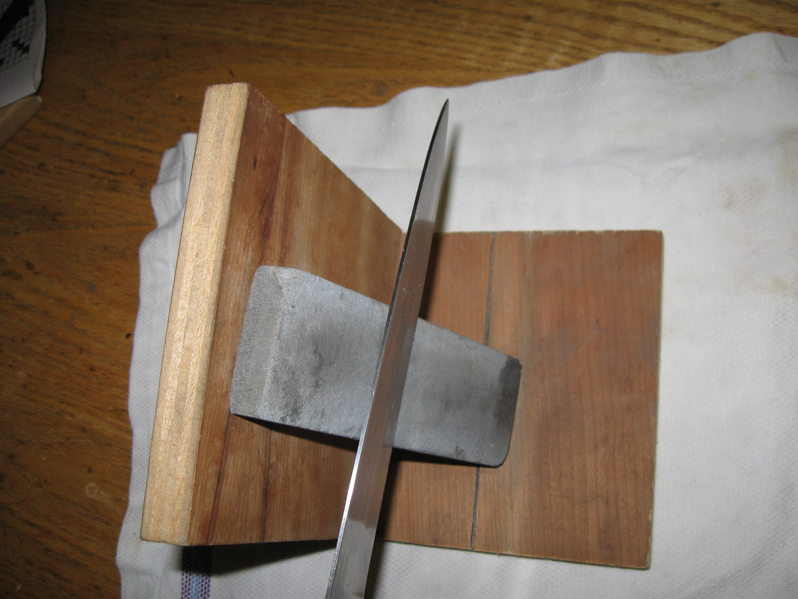 Picture of Make a Sharpening System With a Sharpening Stone and Sharpen Knives