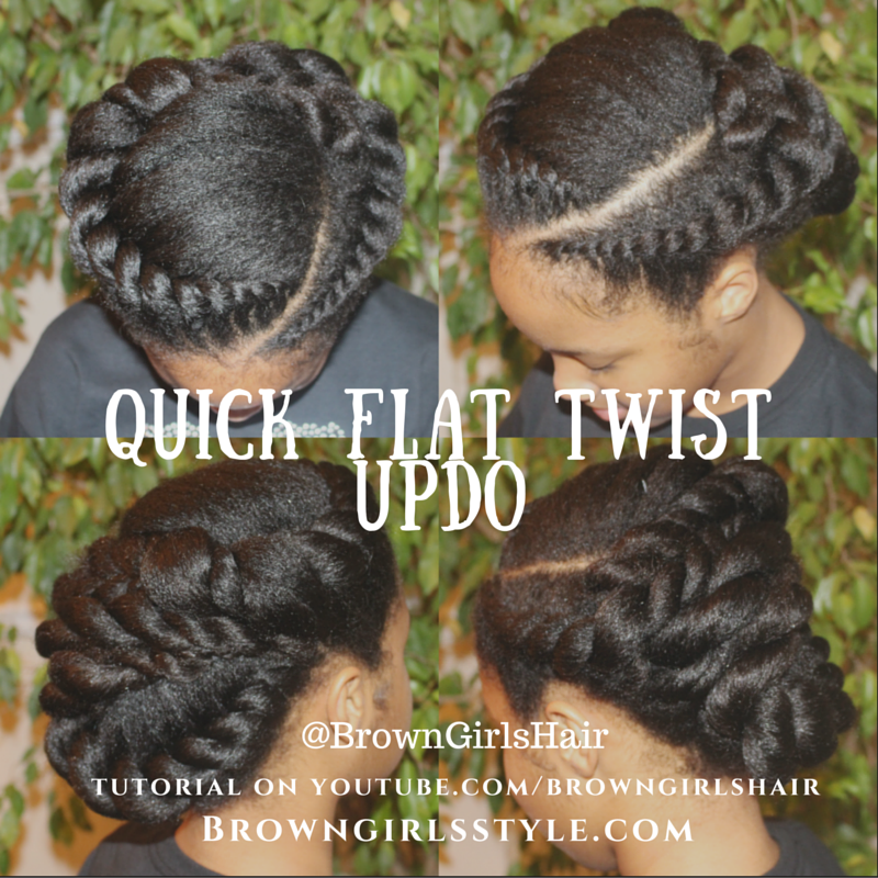 Picture of Quick Flat Twist Updo Hair Tutorial