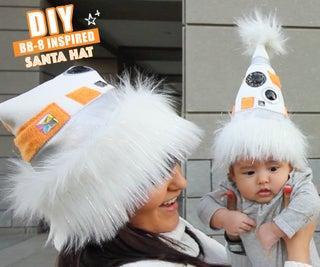 星球大战BB8启发圣诞老人帽子