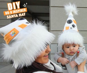Star Wars BB8 Inspired Santa Hat