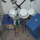 improvised drumkit with knex