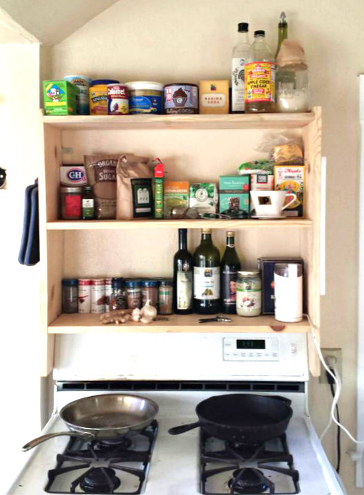 Picture of DIY! Above Stove Shelf