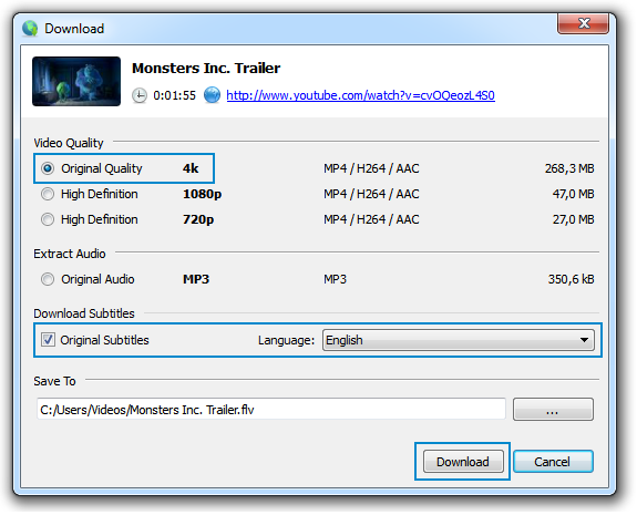 How to download subtitles from youtube 4 steps picture of choose the quality of video and subtitles language ccuart Choice Image