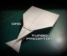 How to Make the Turbo Predator Paper Airplane