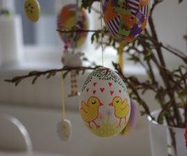 Painted Eggshells for Easter
