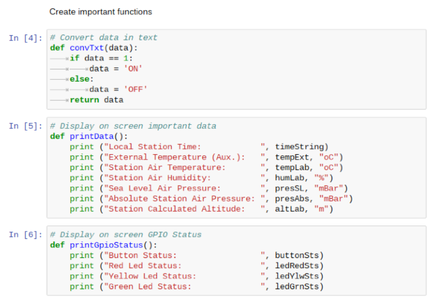 Initialization 3: Functions for Display Data