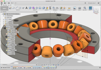 Design Your Slew-Bearing in Fusion 360