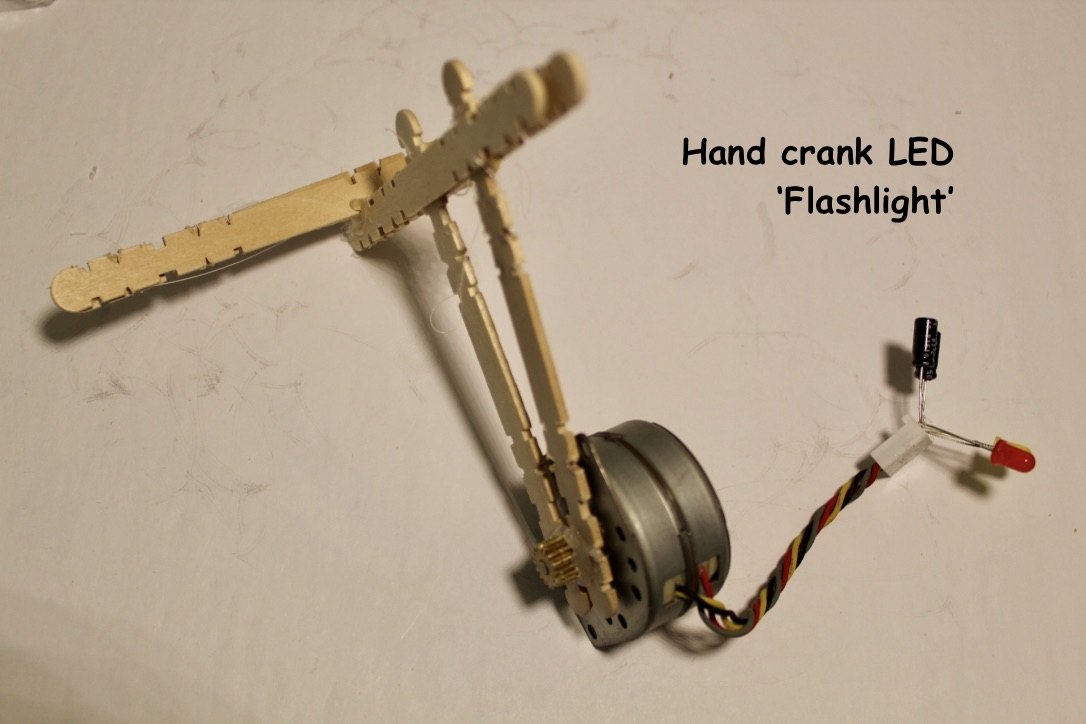 Picture of Hand Crank LED 'flashlight'