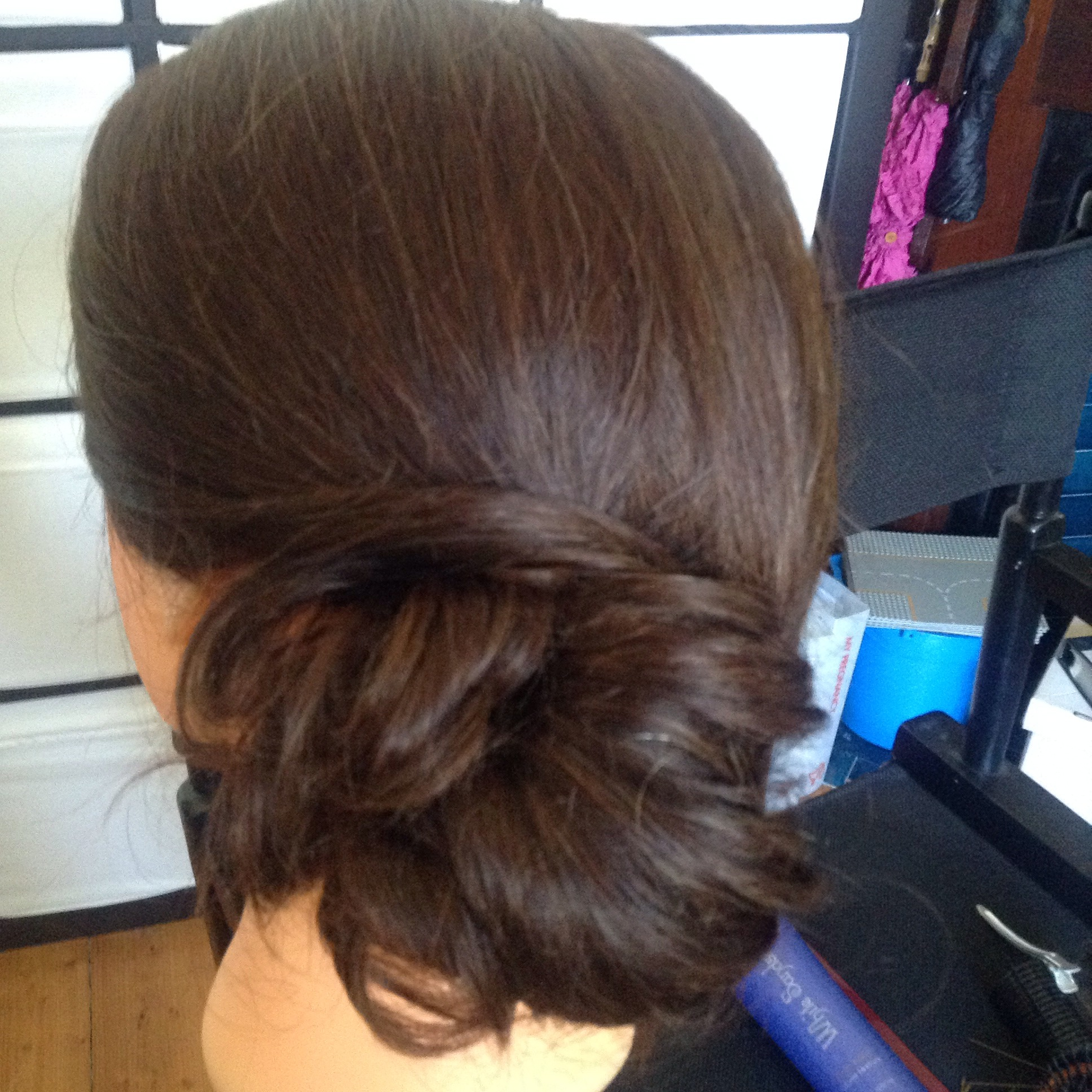 Picture of Hair- Loose Side Bun