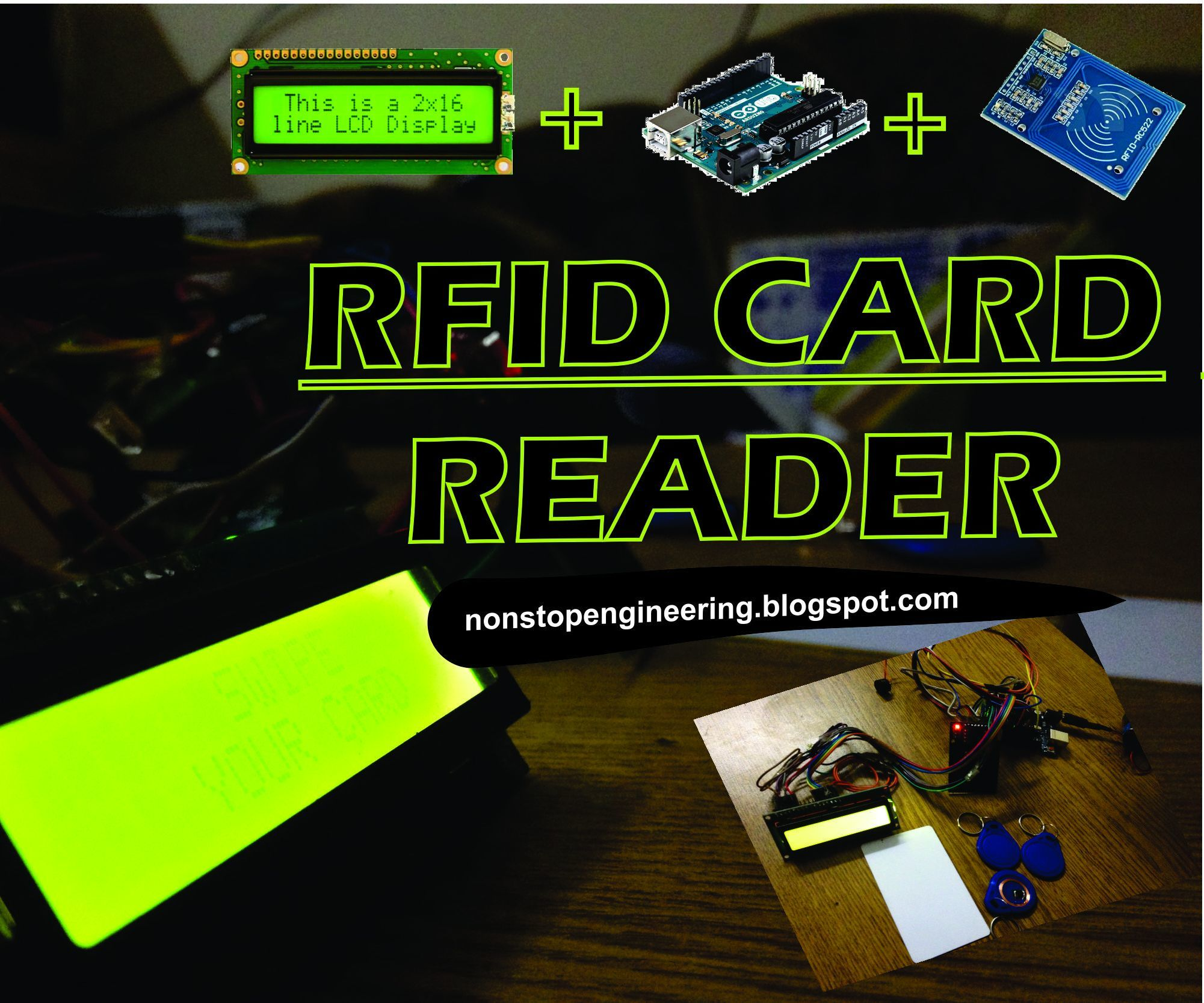 Rfid Card Reader With Arduinorfid Rc522 And Lcd 16x2 7 Steps Block Diagram Of A Tag Chip Pictures