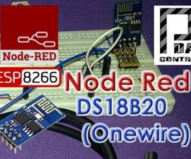 ESP8266 DS18B20 Temperature  Node-RED MQTT