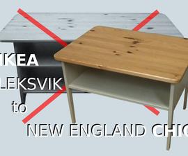 Ikea Leksvik Upcycle to New England Chic