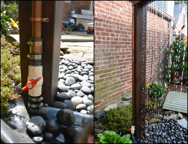 Picture of Connect Water Pump and Cover With Beach Pebbles