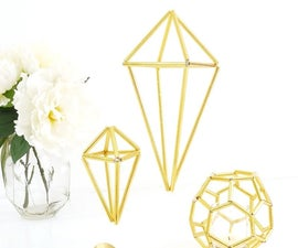 DIY Himmeli Geometric Wedding Decor