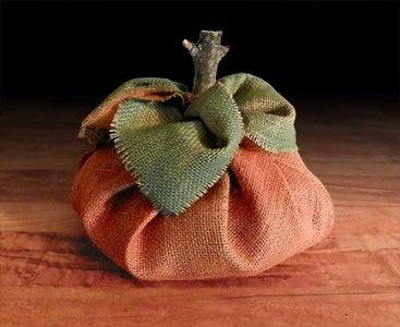 No Sew Burlap Pumpkin