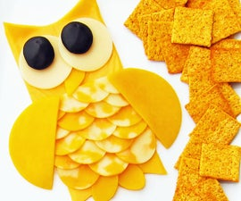 How to create an owl out of cheese slices.