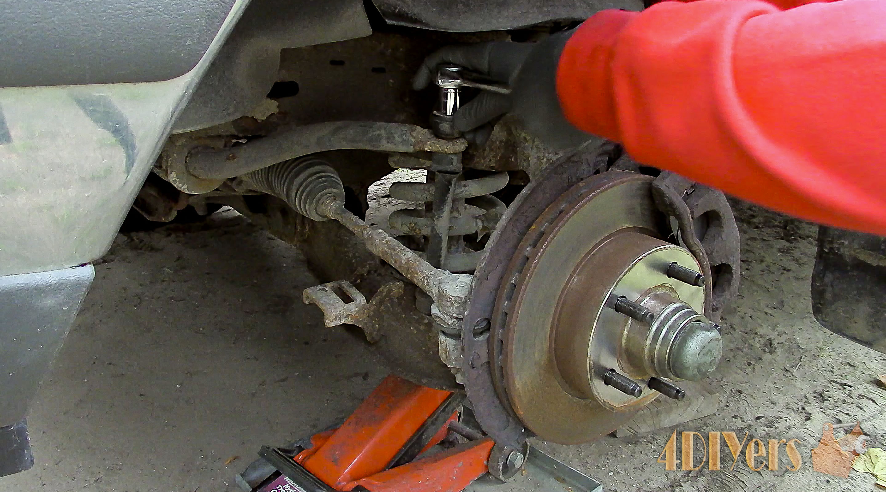 Picture of Removing the Old Sway Bar Link
