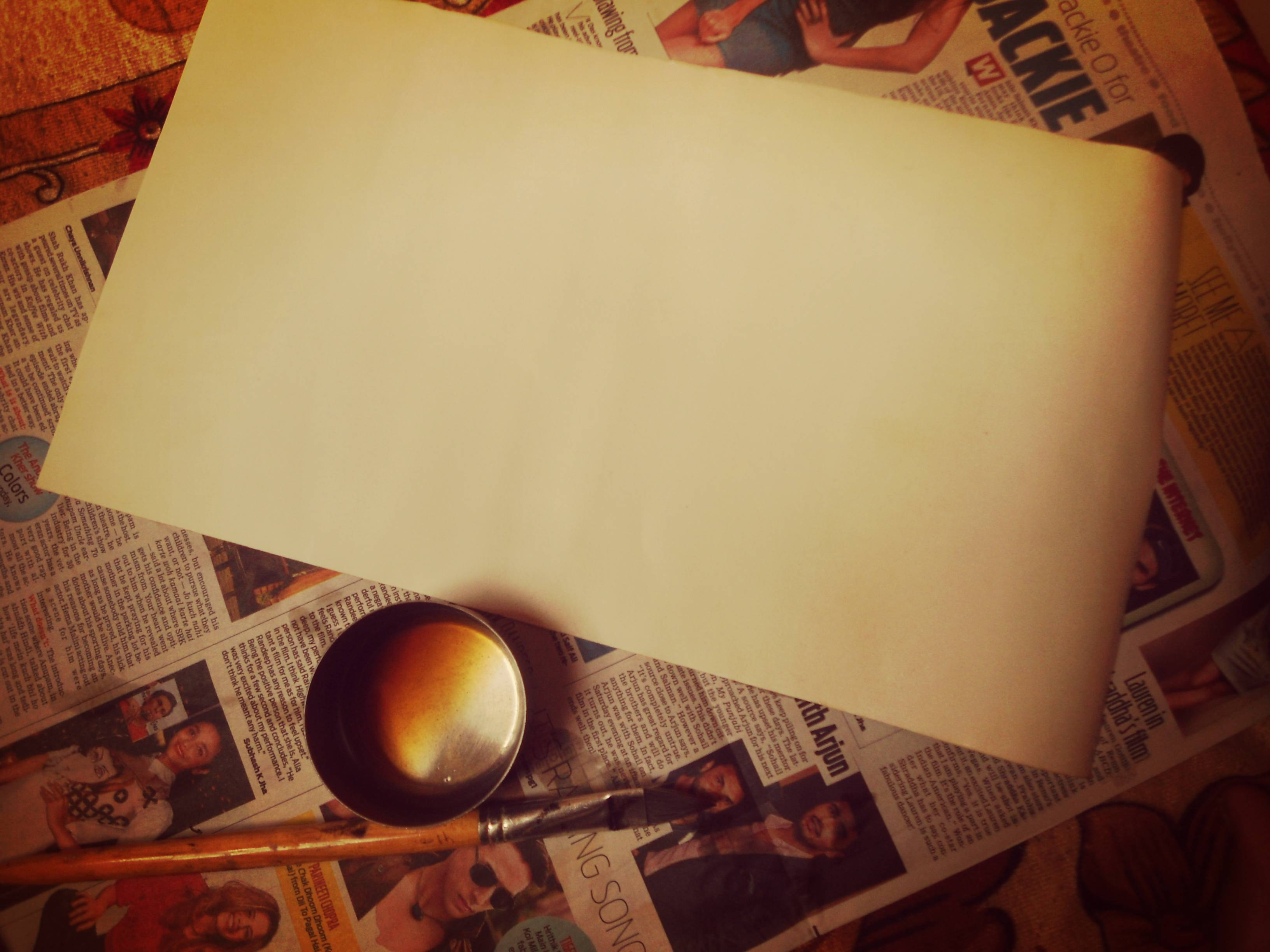 Picture of Now Paint the Invitation Paper in Ocher Colour.