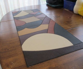 Leather Patchwork Table Runner