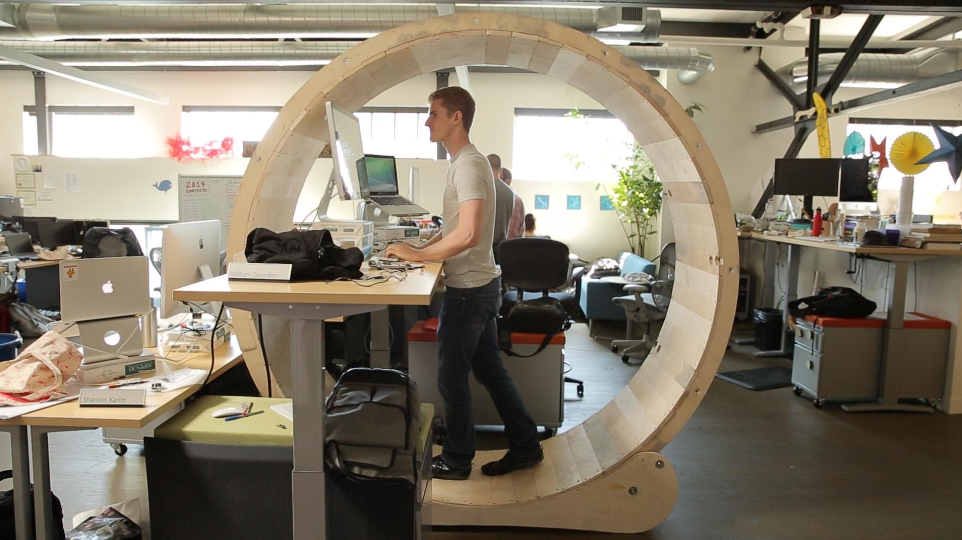 Picture of Hamster Wheel Standing Desk