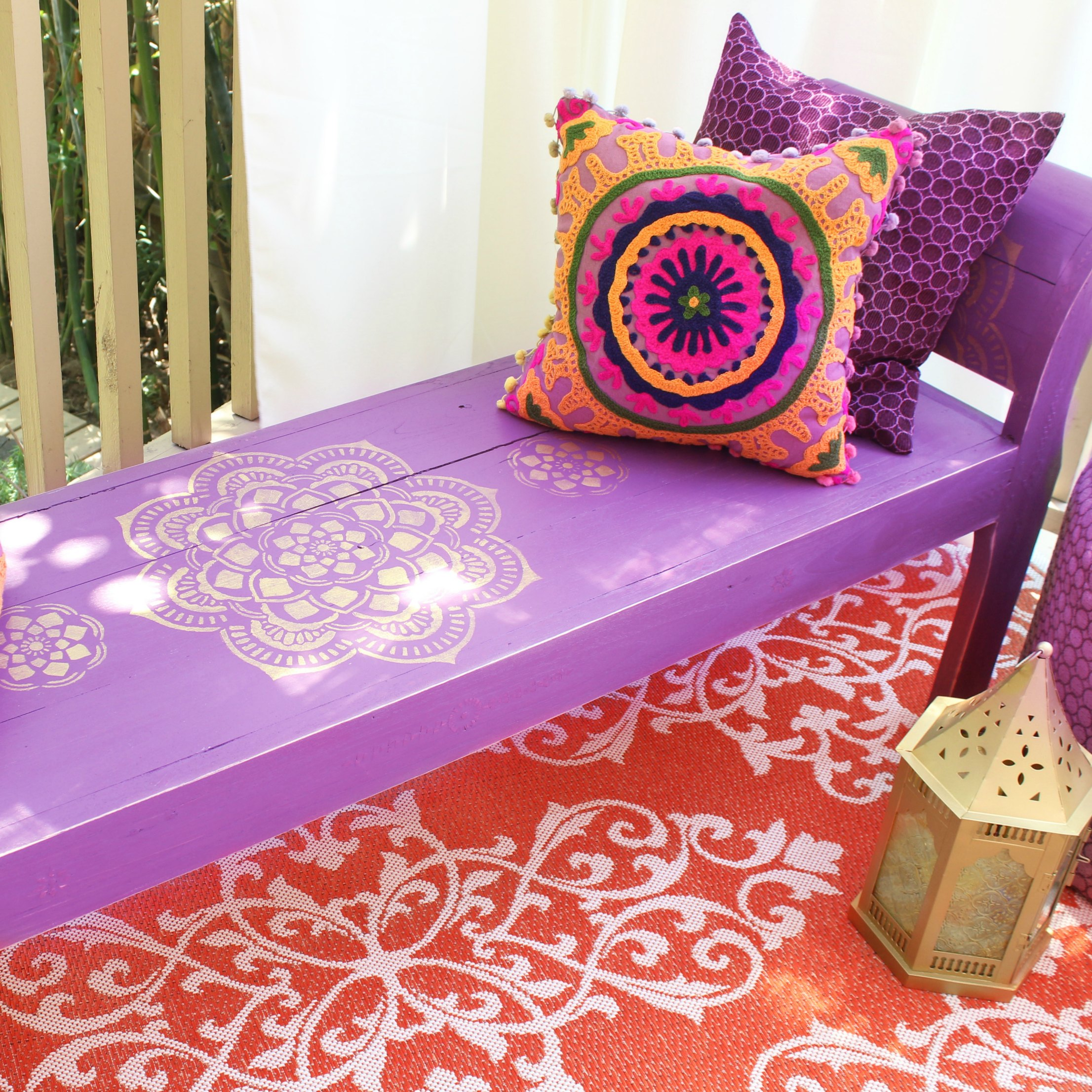Picture of Boho Bench Makeover