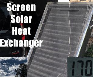 Screened Solar Air Heater