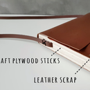 Leather Handbag with wooden sides