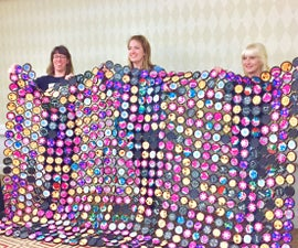 Quilted Shade Canopy From Recycled Plastic