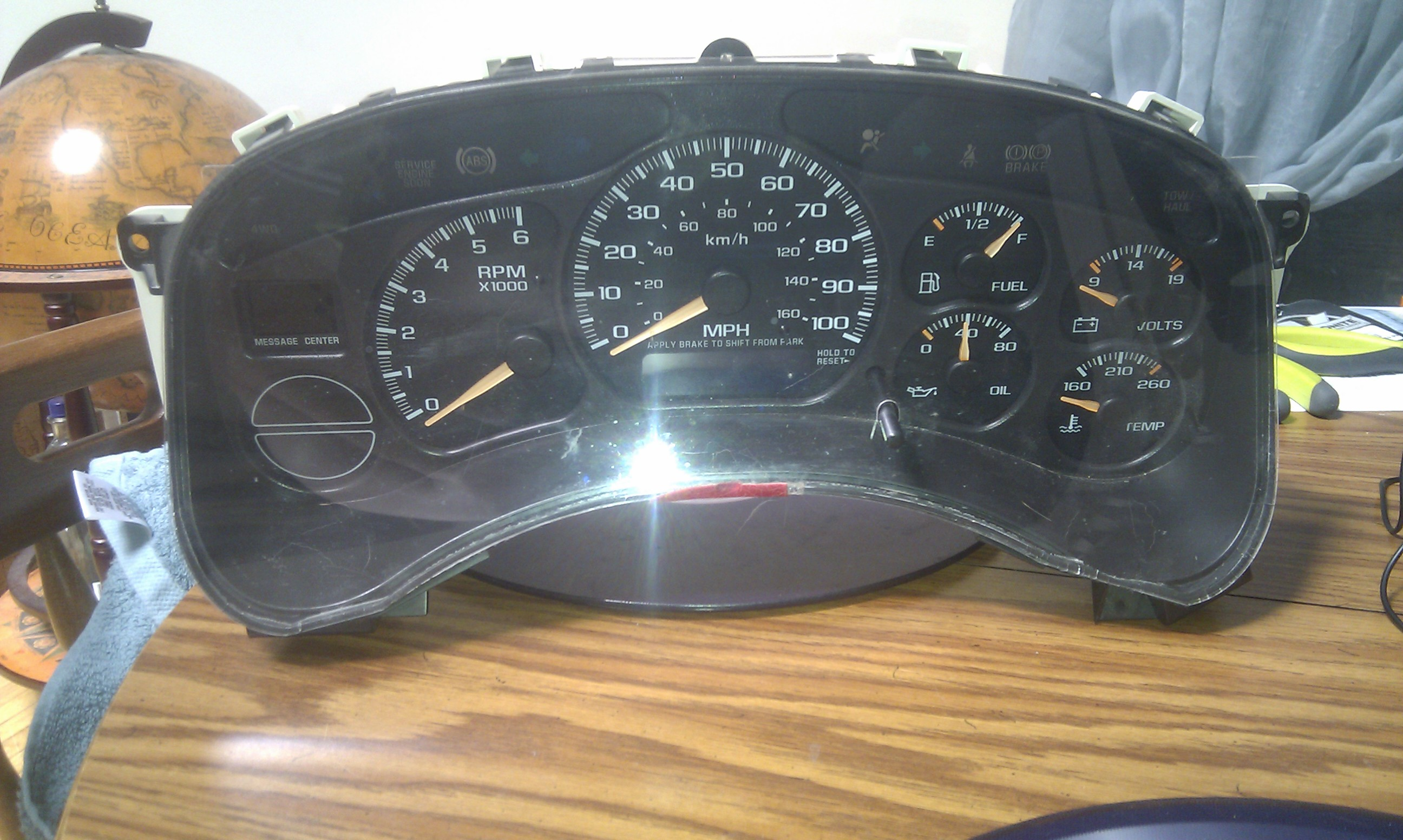 Picture of Opening Up the Instrument Cluster