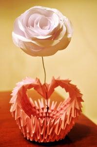 Origami Rose in a Vase