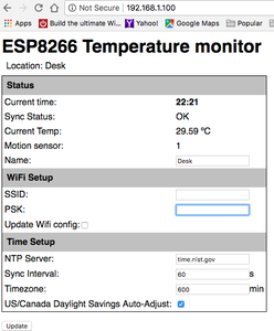 Accessing Your Temperature and Motion Sensor