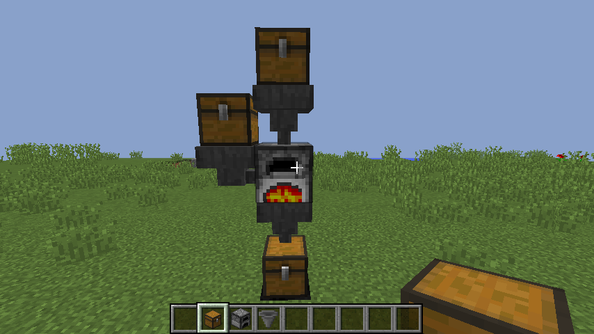 Picture of Fully Automatic Minecraft Furnace.