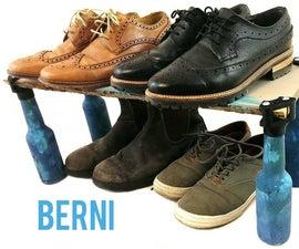 Berni. 3D printed joint for beer bottle furniture