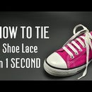 How to tie a Shoe Lace in 1 Second. Very fast!