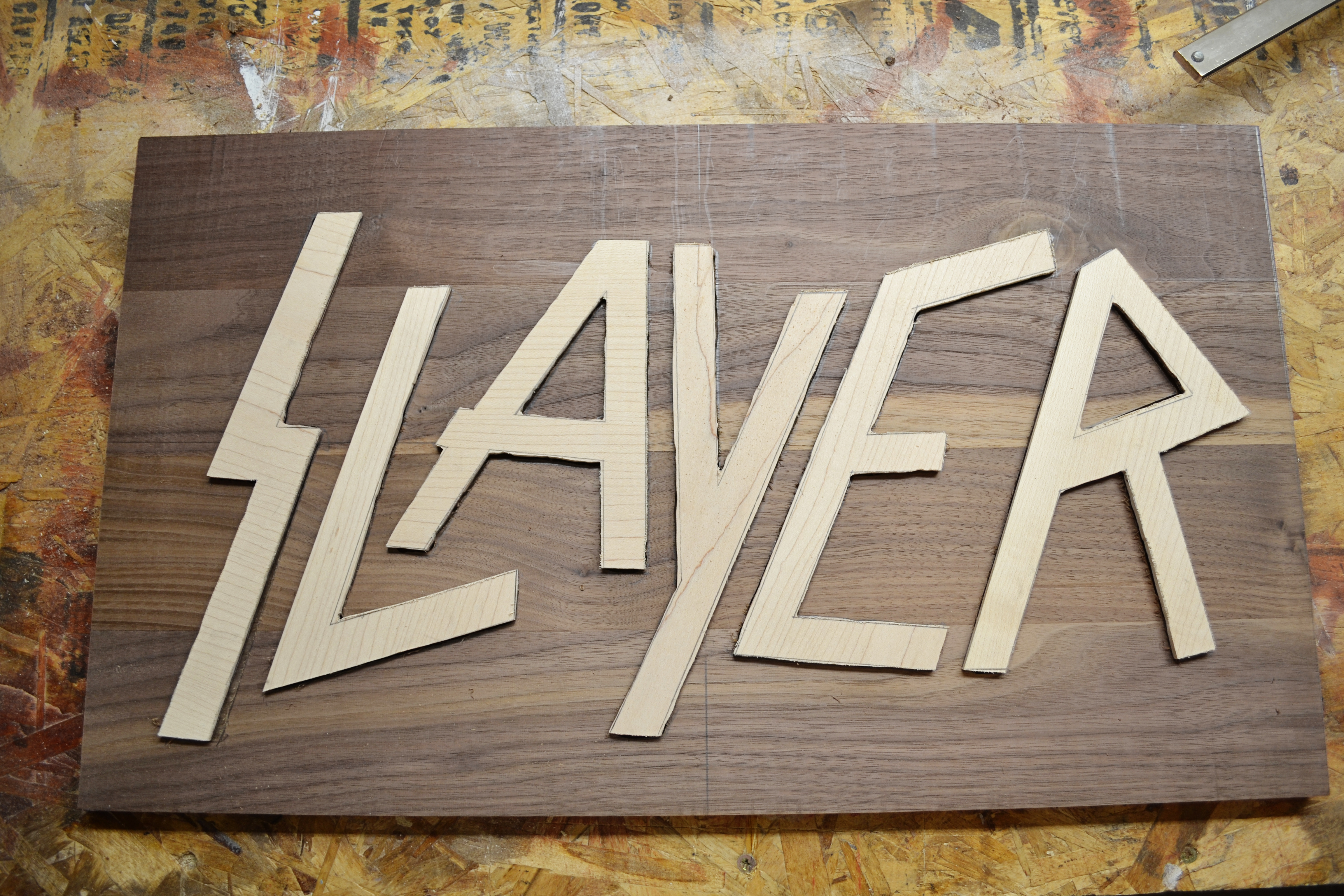 Picture of Prepping Your Wood for the Inlay + Routing Out the Design!