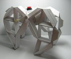 "Paper Motorized Walking Machine ""Sculpture"""
