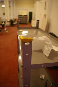 """Protects Your Floor With Sugru Adding It to an Old Bookscase Model """"lopeta"""""""