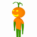 Jack-O'-Lantern Man Blender 3D