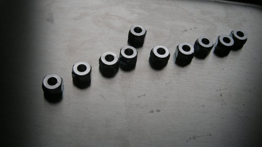 """Attach Washers to the 1/2"""" Nuts"""