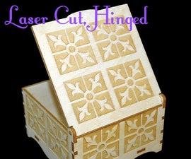 "Laser Cut Hinged Wooden Box (4""x4"")"