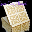 "Laser Cut Hinged Wooden Box (4""x4"")"