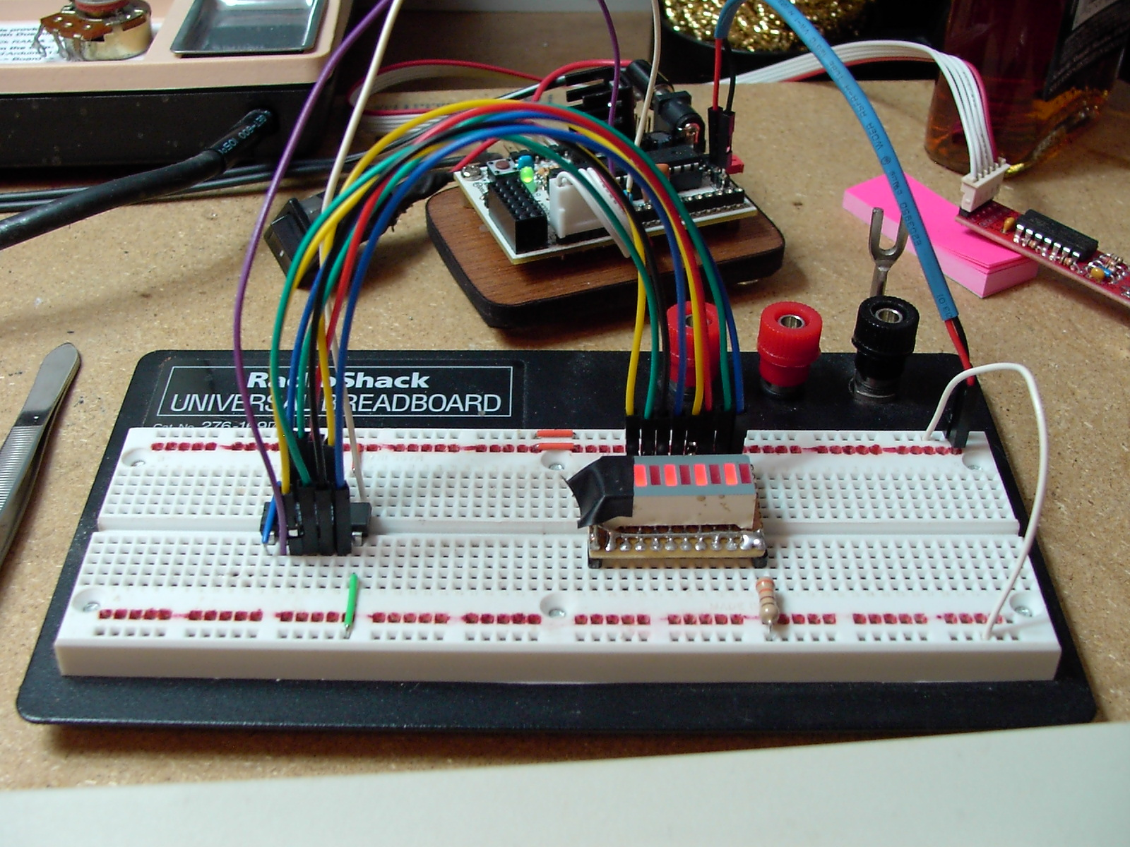 Picture of Project 1[pt 1]: '2 Wire' Bargraph LED Display Controller Hardware