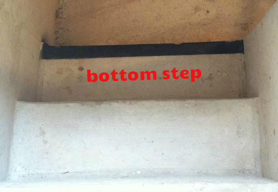 Picture of PAINTING STRIPE ON BOTTOM STEP