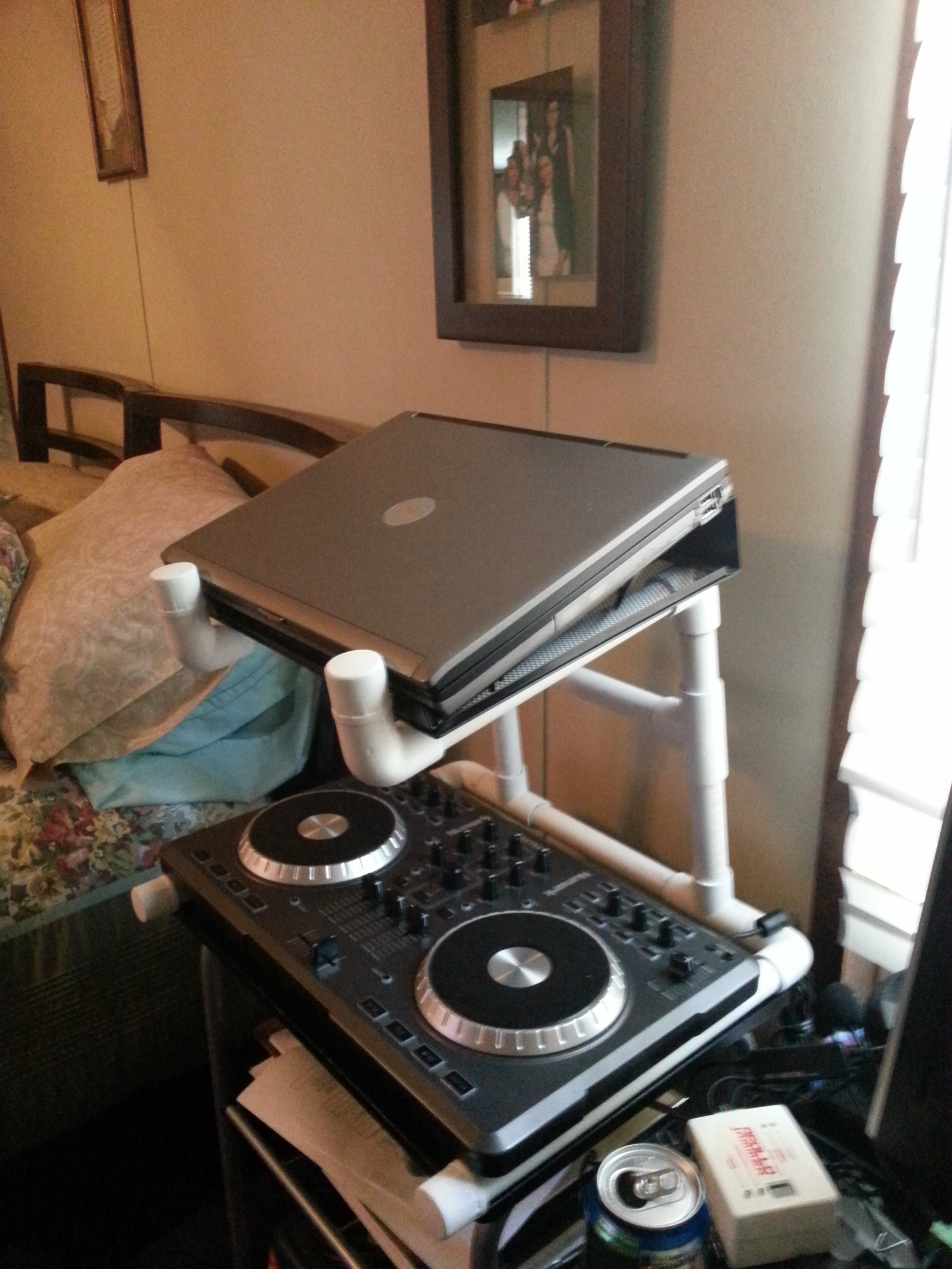 Picture of PVC DJ Laptop and Mixer Stand