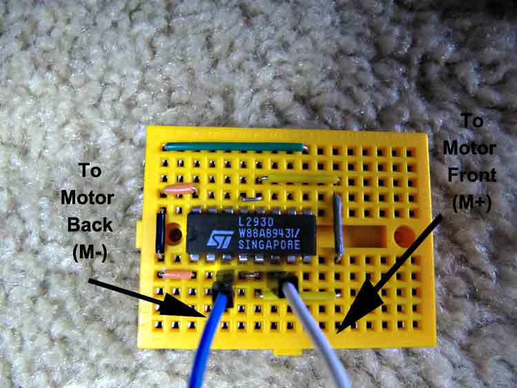 Picture of Wire Motor Outputs