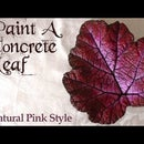 Concrete Leaf Painting   Natural Pink Style