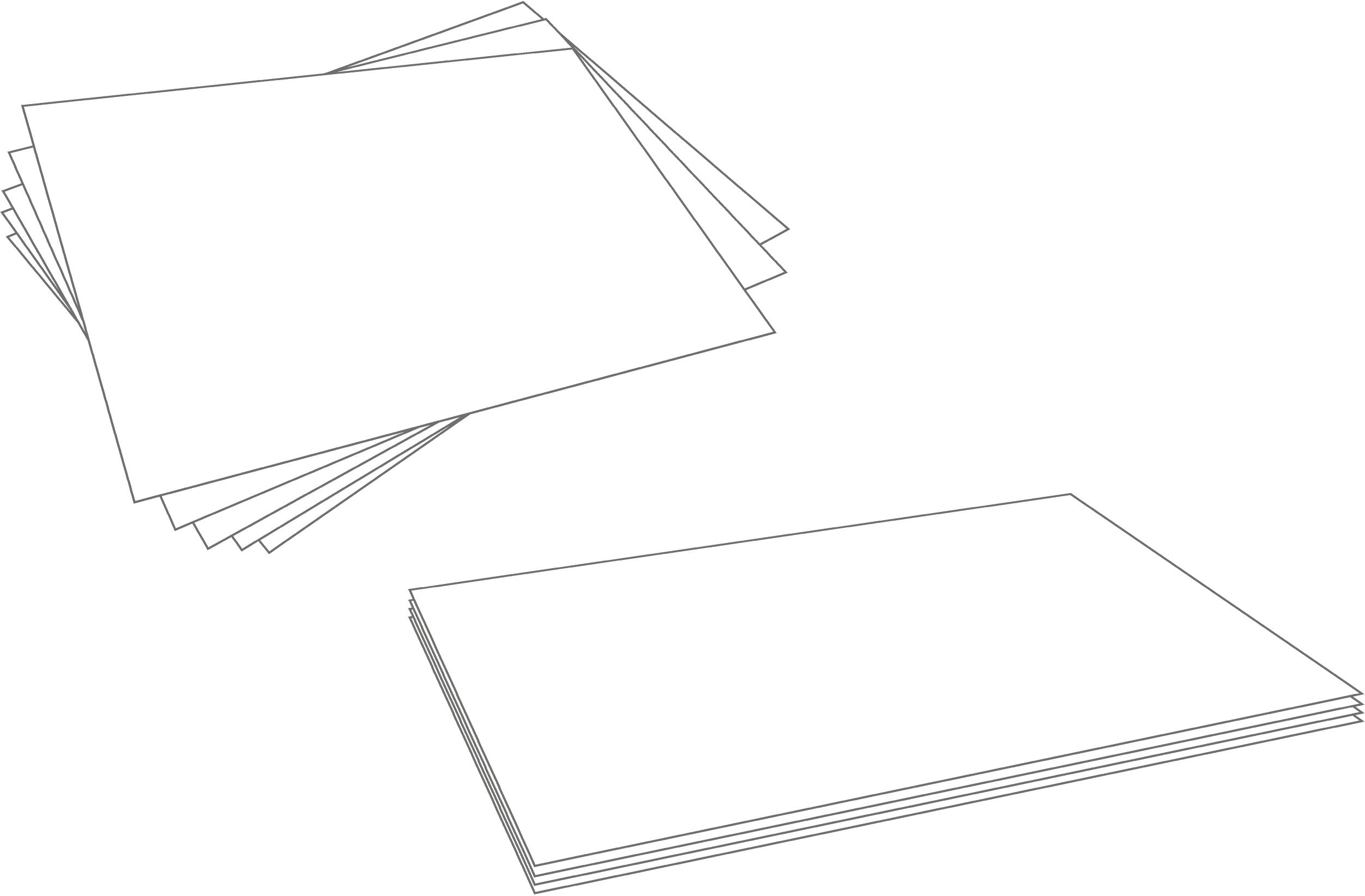 Picture of Stack Your Paper Neatly in (at Least 4) Piles of 8 Sheets